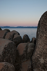 """Tahoe Boulders at Sunrise 21"" - These boulders were photographed at sunrise at Sand Harbor, Lake Tahoe."