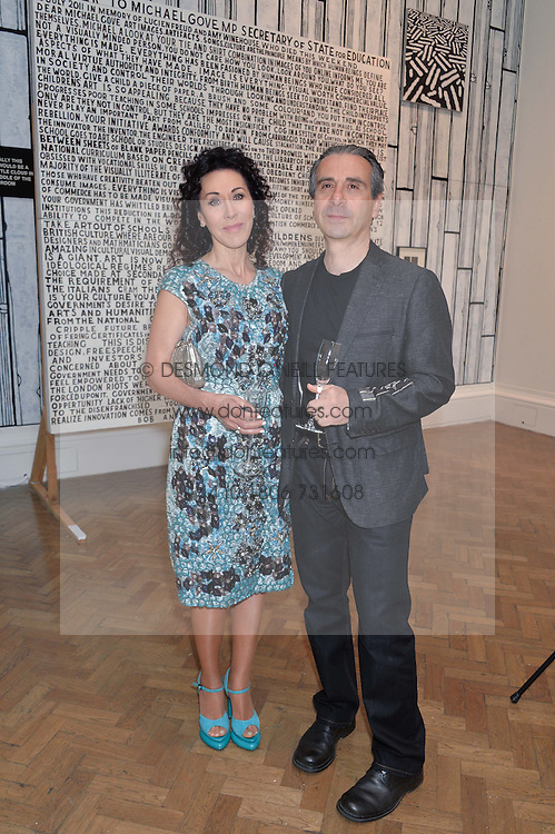 COLIN & HELEN DAVID at the annual Royal Academy of Art Summer Party held at Burlington House, Piccadilly, London on 4th June 2014.