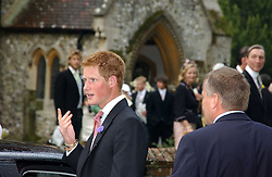 PRINCE HARRY at the wedding of Tom Parker Bowles to Sara Buys at St.Nicholas Church, Rotherfield Greys, Oxfordshire on 10th September 2005.<br />