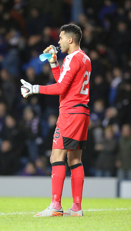 Wes Foderingham gives the thumbs up during the Rangers v Dumbarton  Scottish Championship  1 December 2015 <br /> <br /> (c) Andy Scott | SportPix.org.uk