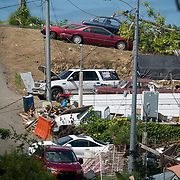 NOVEMBER 23 - TOA ALTA, PUERTO RICO - <br /> The Las Acerolas community in To a Alta has piles of debris on the sides of  it's narrow streets. Neighbors claim nothing has been picked up since Hurricane Maria blew through the island.<br /> (Photo by Angel Valentin/FREELANCE)