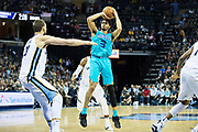 MEMPHIS, TN - OCTOBER 30:  Jeremy Lamb #3 of the Charlotte Hornets shoots a jump shot during a game against the Memphis Grizzlies at the FedEx Forum on October 30, 2017 in Memphis, Tennessee.  NOTE TO USER: User expressly acknowledges and agrees that, by downloading and or using this photograph, User is consenting to the terms and conditions of the Getty Images License Agreement.  The Hornets defeated the Grizzlies 104-99.  (Photo by Wesley Hitt/Getty Images) *** Local Caption *** Jeremy Lamb