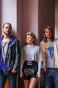 "Collaborating musicians Robyn and Röyksopp have teamed up to make a mini-album to be released this year. They pose for portraits in Mexico City, Mexico, on the day of their ""Do It Again"" video directed by Danish filmmaker Martin De Thurah."