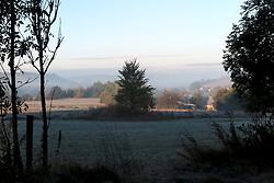 CZECH REPUBLIC VYSOCINA NEDVEZI 7OCT16 - First light on a misty autumn morning near the village of Nedvezi, Vysocina, Czech Republic.<br /> <br /> jre/Photo by Jiri Rezac<br /> <br /> © Jiri Rezac 2016