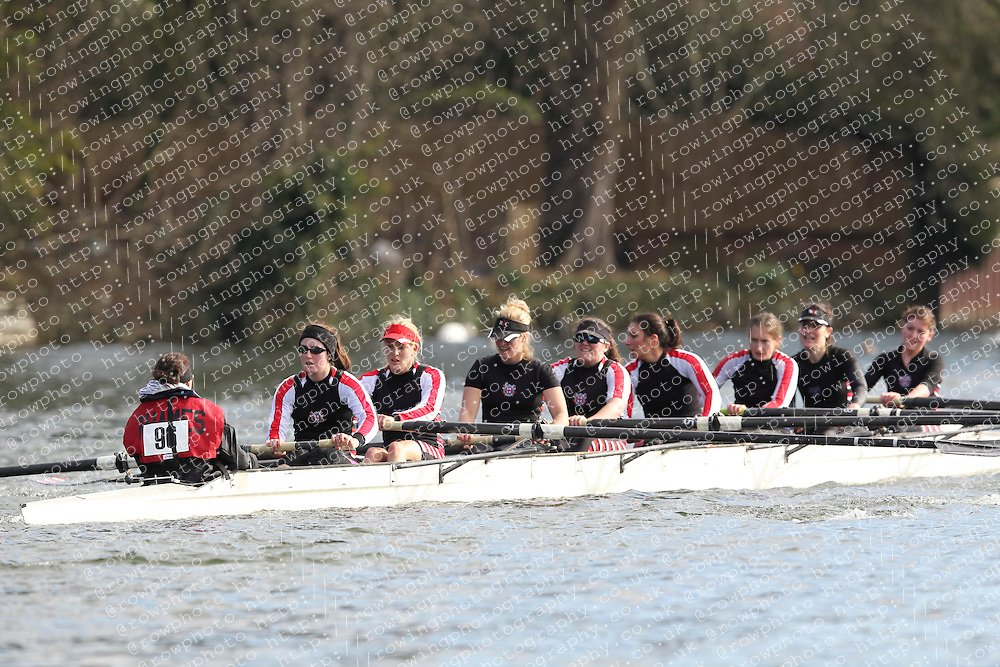 2012.02.25 Reading University Head 2012. The River Thames. Division 1. Thames Rowing Club C W.IM2 8+