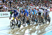 Men's Omnium Points race during the UCI Cycling World Cup at the Avantidrome, Cambridge, New Zealand, Sunday, December 06, 2015. Credit: Dianne Manson/CyclingNZ/UCI