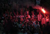 Photo. Jed Wee.<br /> Poland v England, World Cup Qualifier, Stadion Slaski, 08/09/2004.<br /> Polish fans<br /> <br /> NORWAY ONLY