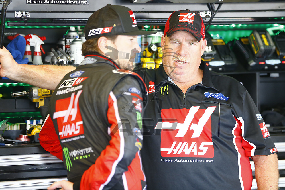 July 07, 2017 - Sparta, KY, USA: Kurt Busch (41) hangs out in the garage during practice for the Quaker State 400 at Kentucky Speedway in Sparta, KY.