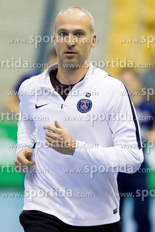 Thierry Omeyer of Paris Saint-Germain before handball match between RK Celje Pivovarna Lasko (SLO) and Paris Saint-Germain (FRA) in Round #5 of Group Phase of EHF Champions League 2015/16, on October 18, 2015 in Arena Zlatorog, Celje, Slovenia. Photo by Urban Urbanc / Sportida