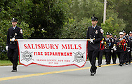 Salisbury Mills, New York - Fire departments and bands march down Route 94 during the Orange County Volunteer Firemen's Association (OCVFA) annual parade on Sept. 24, 2011.