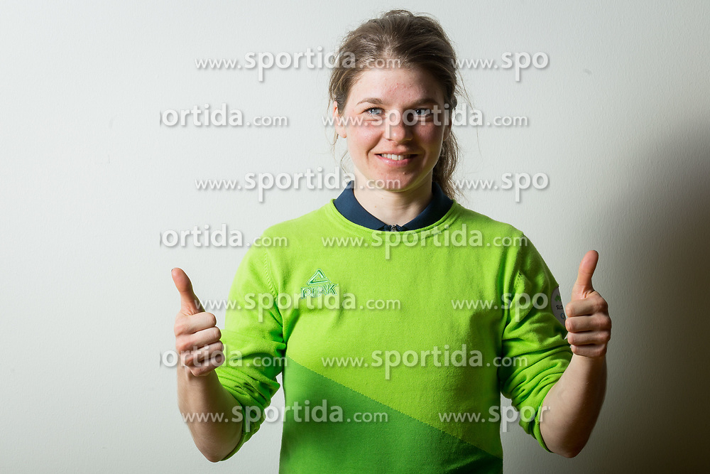 Alenka Cebasek during the outfitting of the Slovenian Olympic Team for PyeongChang 2018, on January 29, 2018 in GH Union, Ljubljana, Slovenia. Photo by Urban Urbanc / Sportida