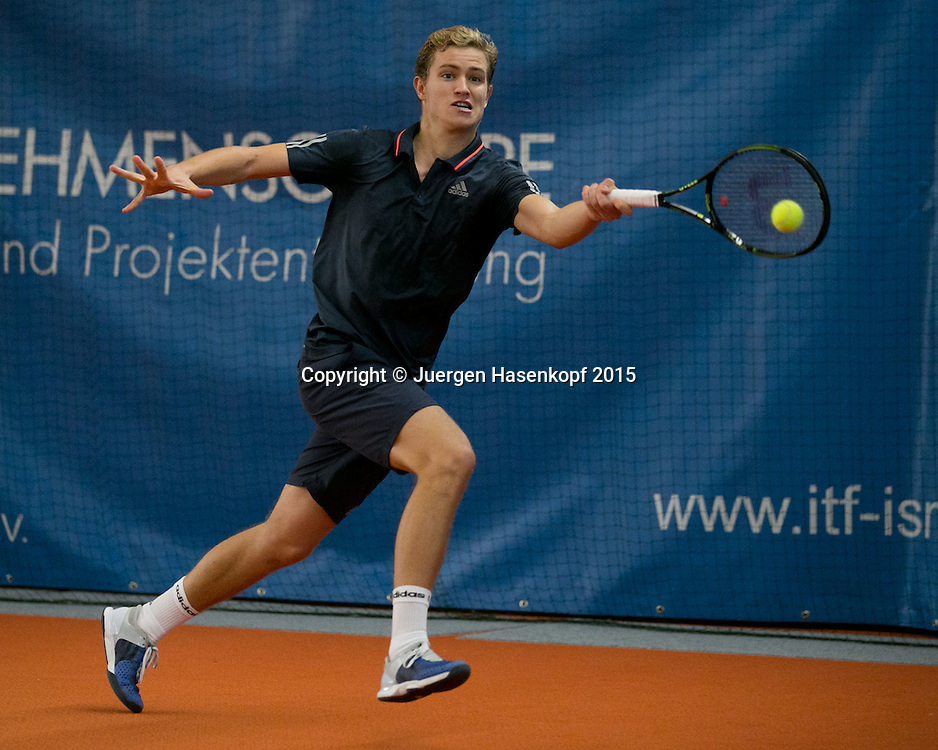 Johannes Haerteis (GER))<br /> <br /> Tennis - Ismaning Open 2015 - ITF 10.000 -  TC Ismaning - Ismaning - Bavaria - Germany - 31 October 2015. <br /> &copy; Juergen Hasenkopf