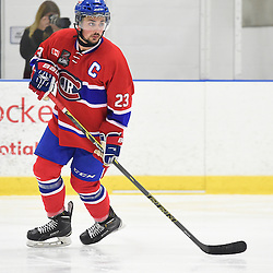 TORONTO, ON - SEP 18,  2016: Ontario Junior Hockey League game between Buffalo and Toronto, Sal Filice #23 of the Toronto Jr. Canadiens skates up the ice during the third period.<br /> (Photo by Andy Cornea / OJHL Images)
