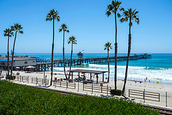 June 14, 2017 - San Clemente, California, USA - A view of the San Clemente Pier on Wednesday, June 14, 2017. The Heal the Bay's new beach report card lists the San Clemente Pier area in San Clemente, as one of the ten worst in the state for bacteria pollution..(Photo by Mark Rightmire,Orange County Register/SCNG) (Credit Image: © Mark Rightmire, Mark Rightmire/The Orange County Register via ZUMA Wire)