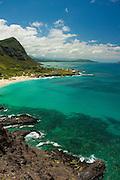 Makapu'u beach and windward coast of Oahu, Hawaii