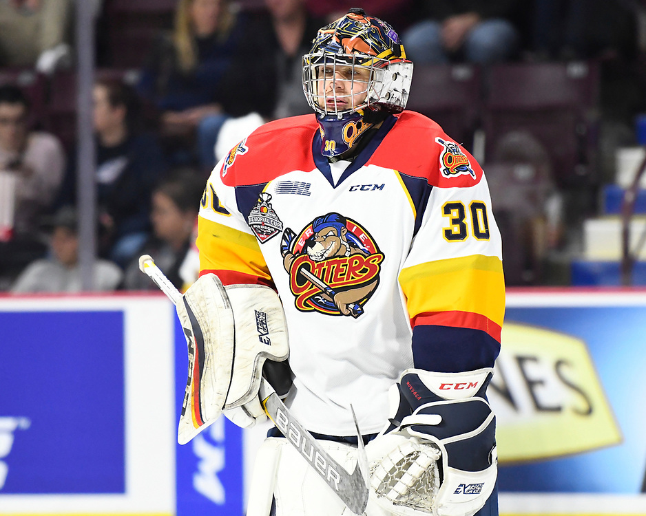 Joseph Murdaca of the Erie Otters in Game 2 of the 2017 MasterCard Memorial Cup against the Seattle Thunderbirds on Saturday May 20, 2017 at the WFCU Centre in Windsor, ON. Photo by Aaron Bell/CHL Images