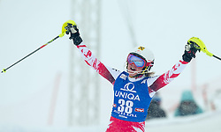 29.12.2014, Hohe Mut, Kühtai, AUT, FIS Ski Weltcup, Kühtai, Slalom, Damen, 2. Durchgang, im Bild Julia Dygruber (AUT) // Julia Dygruber of Austria reacts after 2nd run of Ladies Giant Slalom of the Kuehtai FIS Ski Alpine World Cup at the Hohe Mut Course in Kuehtai, Austria on 2014/12/29. EXPA Pictures © 2014, PhotoCredit: EXPA/ JFK