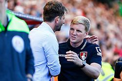 AFC Bournemouth manager Eddie Howe greets Aston Villa Manager Tim Sherwood - Mandatory by-line: Jason Brown/JMP - Mobile 07966 386802 08/08/2015 - FOOTBALL - Bournemouth, Vitality Stadium - AFC Bournemouth v Aston Villa - Barclays Premier League - Season opener