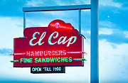 Florida, Saint Petersburg, Historic 50's Neon Sign, El Cap Restaurant, Baseball Themed