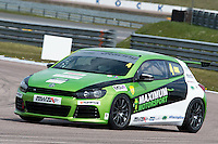 #4 Rob COX  Maximum Motorsport  Volkswagen Scirocco Milltek Sport Volkswagen Racing Cup at Rockingham, Corby, Northamptonshire, United Kingdom. April 30 2016. World Copyright Peter Taylor/PSP.