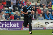 Joe Leach during the NatWest T20 Blast Quarter Final match between Worcestershire County Cricket Club and Hampshire County Cricket Club at New Road, Worcester, United Kingdom on 14 August 2015. Photo by David Vokes.