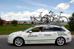 Car of KK Radenska during 1st Stage (164 km) at 19th Tour de Slovenie 2012, on June 14, 2012, in Celje, Slovenia. (Photo by Matic Klansek Velej / Sportida)