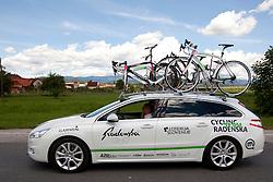 Car of KK Radenska during 1st Stage (164 km) at 19th Tour de Slovenie 2012, on June 14, 2012, in Celje, Slovenia. (Photo by Matic Klansek Velej / Sportida)