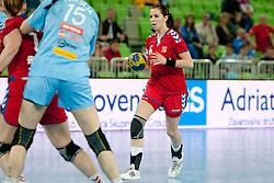 Luzumova of Czech Republic during handball match between Women National Teams of Slovenia and Czech Republic of 4th Round of EURO 2012 Qualifications, on March 25, 2012, in Arena Stozice, Ljubljana, Slovenia. (Photo by Urban Urbanc / Sportida.com)