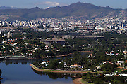 Belo Horizonte, 06 de junho de 2004. Fotos aereas da regiao da pampulha..FOTO: Bruno Magalhaes / Agencia Nitro.