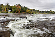 Pakenham Falls on the Mississippi River just below the Five Span Stone Bridge in Pakenham, Ontario, Canada.