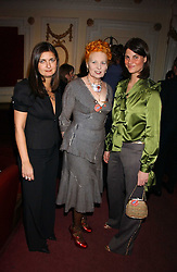 Left to right,VANESSA WINGATE, VIVIENNE WESTWOOD and KATRINA PAVLOSat the launch of 'Grand Classics:Films with Style' series in London hosted by Vivienne Westwood at The Electric Cinema, Portobello Road, London W11 on 20th March 2006.<br />