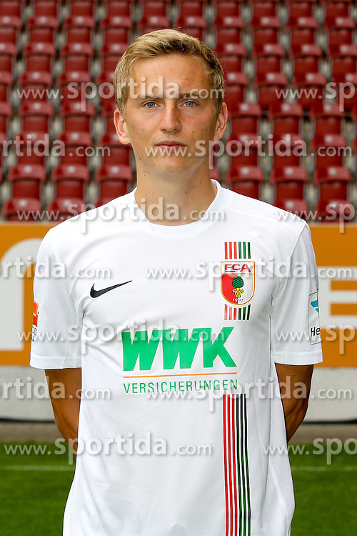 08.07.2015, WWK Arena, Augsburg, GER, 1. FBL, FC Augsburg, Fototermin, im Bild Maik Uhde #39 (FC Augsburg) // during the official Team and Portrait Photoshoot of German Bundesliga Club FC Augsburg at the WWK Arena in Augsburg, Germany on 2015/07/08. EXPA Pictures © 2015, PhotoCredit: EXPA/ Eibner-Pressefoto/ Kolbert<br /> <br /> *****ATTENTION - OUT of GER*****