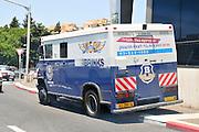 Secure money transfer van