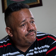 OCTOBER 18 - LARES, PUERTO RICO - <br /> Eugenio Beniquez, 46, a pastor from the  Seburuquillo neighborhood in Lares talks about his move to Florida following the destructive path of hurricane Maria.<br /> (Photo by Angel Valentin for NPR)