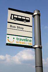 Bus stop sign,