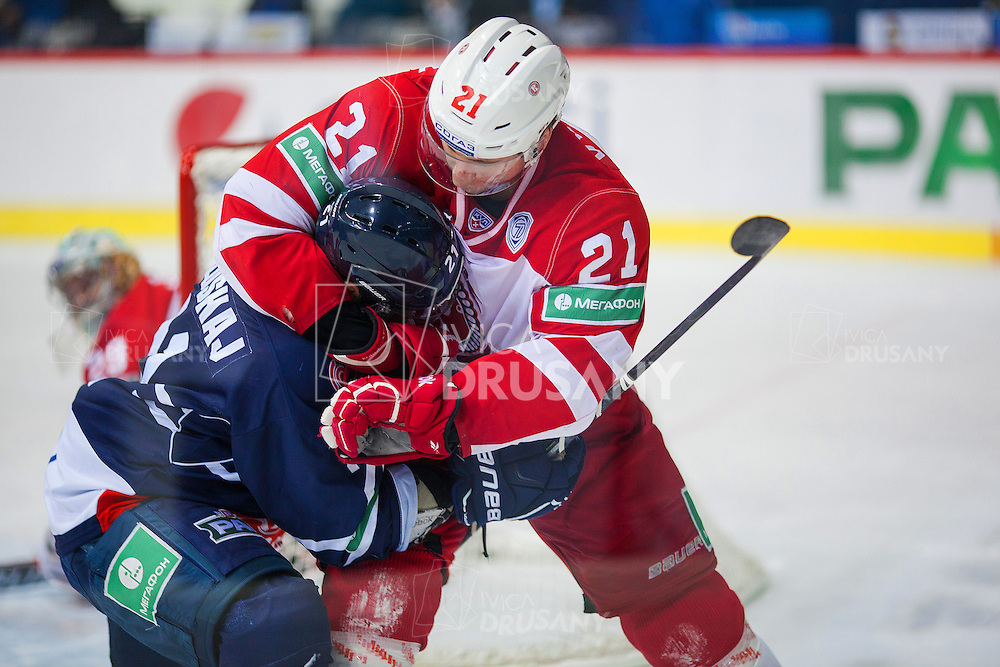 ZAGREB, CROATIA - NOVEMBER 16, 2014: KHL league - Medvescak Zagreb VS Vityaz Podolsk.