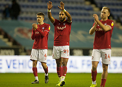 Ashley Williams of Bristol City (C) applauds the fans at the final whistle - Mandatory by-line: Jack Phillips/JMP - 11/01/2020 - FOOTBALL - DW Stadium - Wigan, England - Wigan Athletic v Bristol City - English Football League Championship