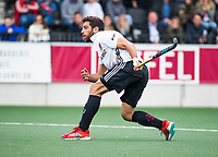 AMSTELVEEN - Valentin Verga (A'dam)    tijdens  de shoot outs, bij  de  eerste finalewedstrijd van de play-offs om de landtitel in het Wagener Stadion, tussen Amsterdam en Kampong (1-1). Kampong wint de shoot outs.  . COPYRIGHT KOEN SUYK