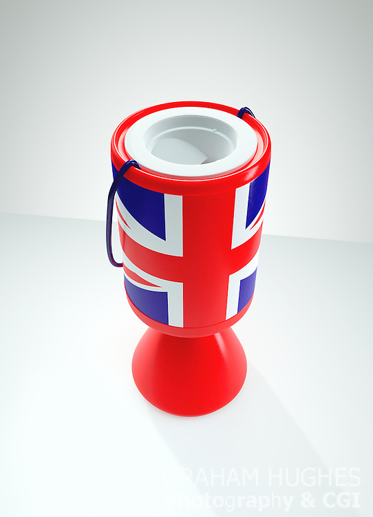 Union Jack Charity Collection Box