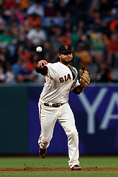 SAN FRANCISCO, CA - AUGUST 13: Brandon Crawford #35 of the San Francisco Giants throws to first base against the Oakland Athletics during the fifth inning at Oracle Park on August 13, 2019 in San Francisco, California. The San Francisco Giants defeated the Oakland Athletics 3-2. (Photo by Jason O. Watson/Getty Images) *** Local Caption *** Brandon Crawford