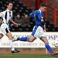St Mirren v St Johnstone..12.02.05<br />Peter MacDonald scores for St Johnstone<br /><br />Picture by Graeme Hart.<br />Copyright Perthshire Picture Agency<br />Tel: 01738 623350  Mobile: 07990 594431