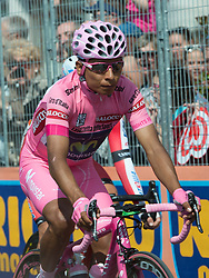 01.06.2014, Triest, ITA, Giro d Italia 2014, 21. Etappe, Gemona del Friuli nach Triest, im Bild der Girosieger 2014 Nairo Quintana, COL (#121, Movistar Team) // giro winner 2014 Nairo Quintana, COL (#121, Movistar Team) during the final stage of the Giro d' Italia 2014 at Stage 21 from Gemona del Friuli to Trieste, Italy on 2014/06/01. EXPA Pictures © 2014, PhotoCredit: EXPA/ R. Eisenbauer
