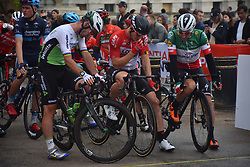 July 29, 2018 - London, United Kingdom - Mark Cavendish from Great Britain prepares for The Prudential RideLondon - Surrey Classic 2018 in Central London on July 29, 2018. RideLondon, known through sponsorship as Prudential RideLondon, is an annual three-day festival of cycling held in London. It was developed by the Mayor of London, London and Partners and Transport for London in partnership with Surrey County Council, and is managed by London and Surrey Cycling Partnership. (Credit Image: © Alberto Pezzali/NurPhoto via ZUMA Press)