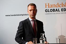 UK ENGLAND LONDON 22JUN16 - Handelsblatt editor in chief Sven Aufhueppe during a podium discussion hosted by Handelsblatt at the Beagle Bar & Restaurant, Hoxton, London.<br /> <br /> jre/Photo by Jiri Rezac<br /> <br /> © Jiri Rezac 2016