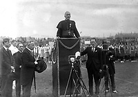 President Eamon De Valera attends the Eucharistic Congress in the Phoenix Park  in 1932.<br /> (Part of the Independent Ireland Newspapers/NLI Collection)