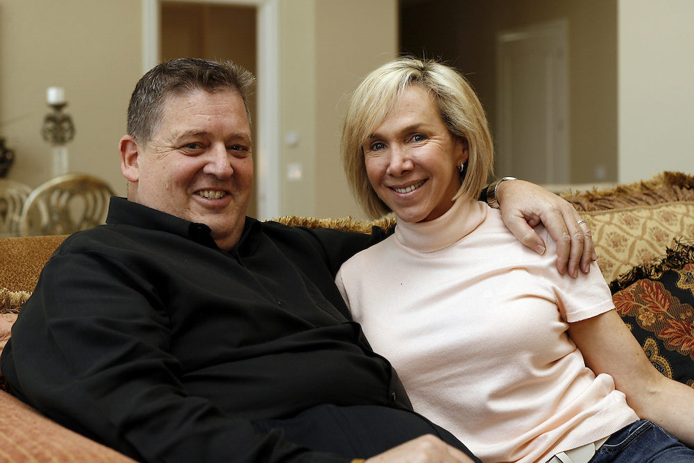 Former Notre Dame head football coach Charlie and Maura Weis, Granger, IN.<br /> Columbus Corporate Photography