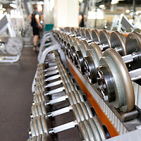 Dumbbells at gym, Commercial photography, advertising photography, Tucson, Phoenix