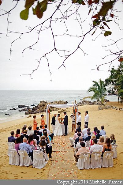 Las Caletas Wedding Photography.  Images by Puerto Vallarta Wedding Photographer Michelle Turner.