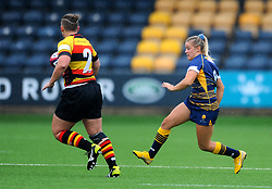 Brooke Bradley of Worcester Valkyries chases down Alice Soper of Richmond Women- Mandatory by-line: Nizaam Jones/JMP - 22/09/2018 - RUGBY - Sixways Stadium - Worcester, England - Worcester Valkyries v Richmond Women - Tyrrells Premier 15s