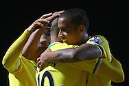 Picture by Paul Chesterton/Focus Images Ltd.  07904 640267.31/12/11.Simeon Jackson of Norwich scores his sides equalising goal and celebrates during the Barclays Premier League match at Carrow Road Stadium, Norwich..